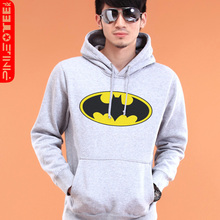 Pinot 2012 new men's spring Jacket Batman hooded pullover sweater lovers Korean version of thickened