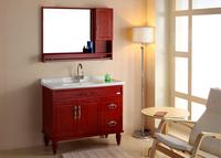 直销浴室柜组合高档橡木柜卫浴柜洁具洗手盆梳洗柜实木落地柜Y041