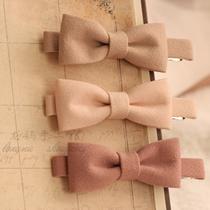 日本发夹 蝴蝶结边夹手工蝴蝶结发饰头饰品发夹发箍 厚料日系边夹