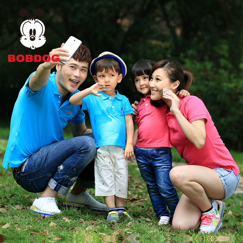 BOBDOG Parent-child 2014 New short sleeve T shirt Family Polo  Taobao Agents