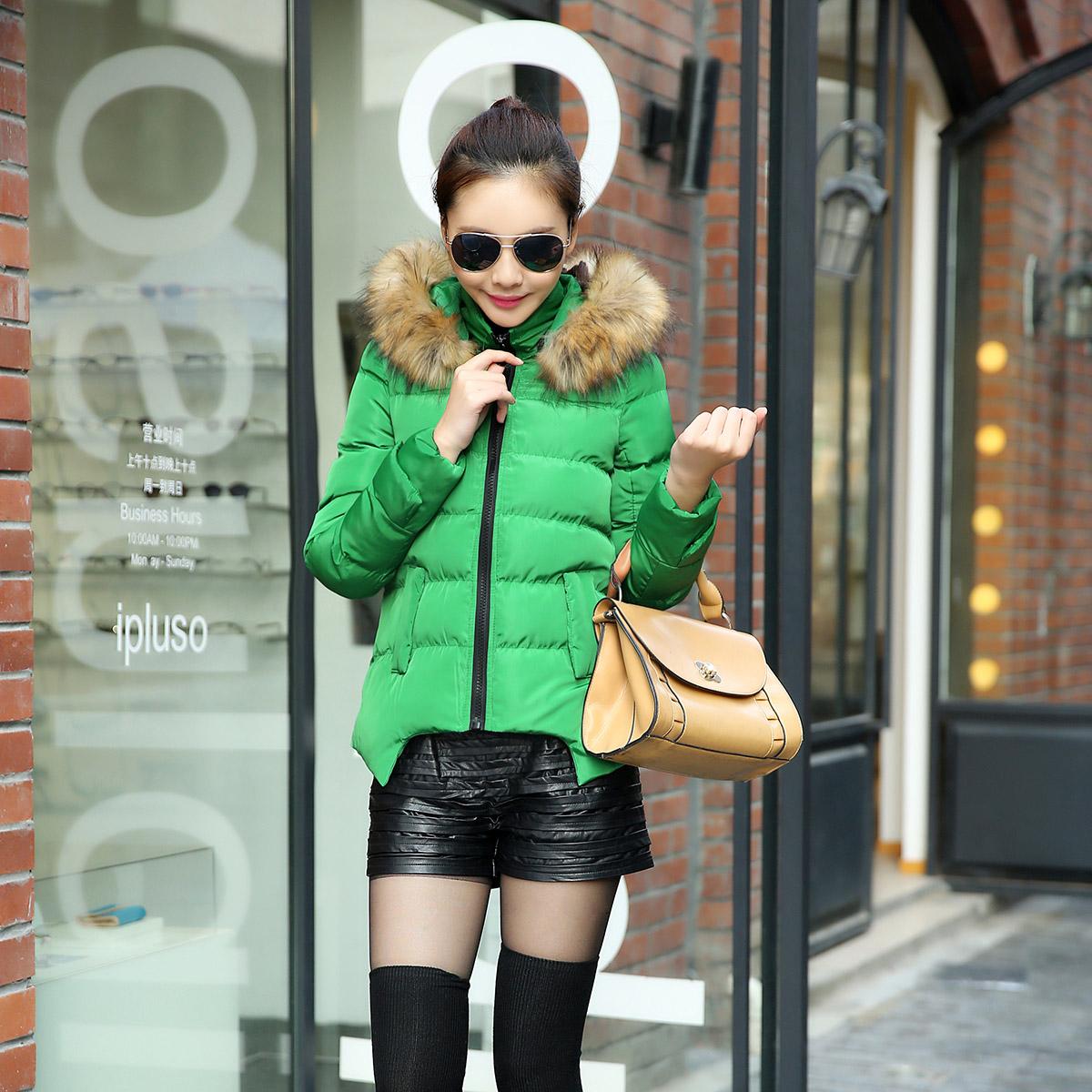 Женская утепленная куртка Хлопка женщин куртка зима Корейский небольшой тонкий с капюшоном пальто женщин 2013 прилив новых куртка хлопок платье