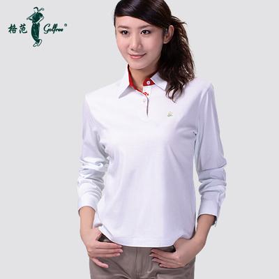 Long-sleeved T-shirt female models bottoming shirt mercerized cotton golf clothing / long-sleeved T-shirt Plum Aoshuang
