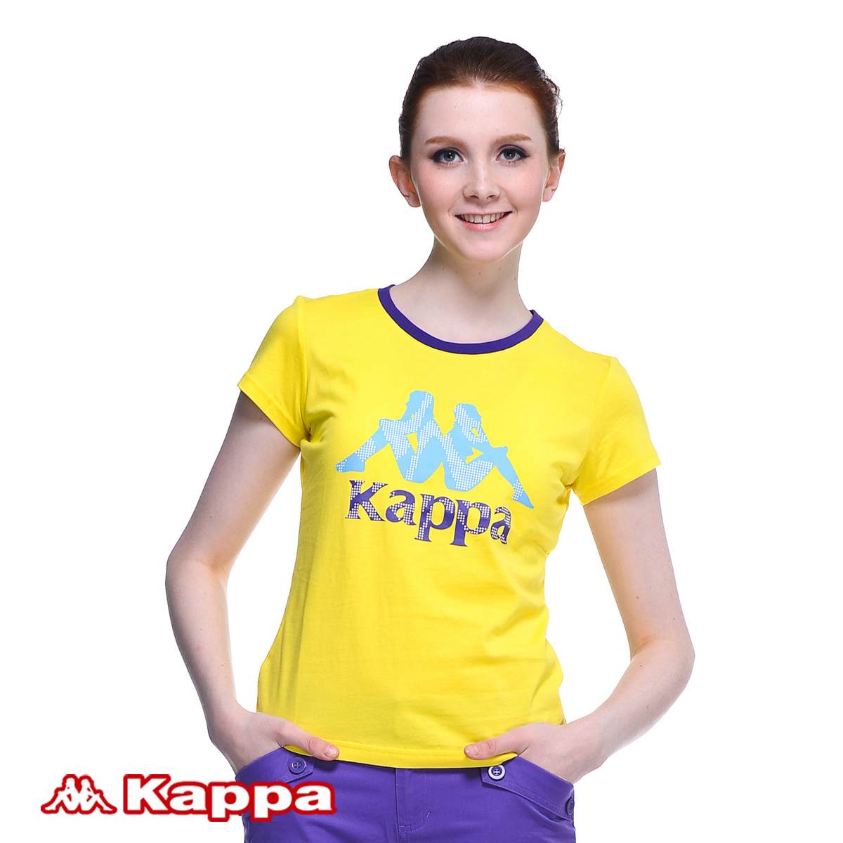 Спортивная футболка KAPPA k2102td456/241. K2102TD456-241 Стандартный О-вырез Короткие рукава ( ≧35cm ) 100 хлопок Для спорта и отдыха Влагопоглощающие, Воздухопроницаемые % Логотип бренда