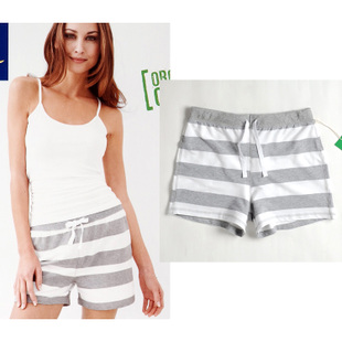 Washing skin exports Germany  single circle code organic cotton comfort cotton stripe shorts women