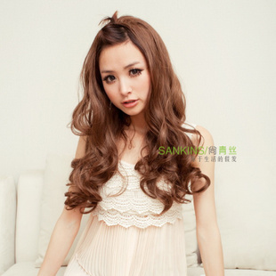 [New presale] female semi-hoods hairstyles long fluffy fluffy black hair girl wig long curly wig