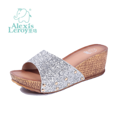 In Luo new summer sandals slope with big yards in outer wear slippers with platform sandals women muffin word drag