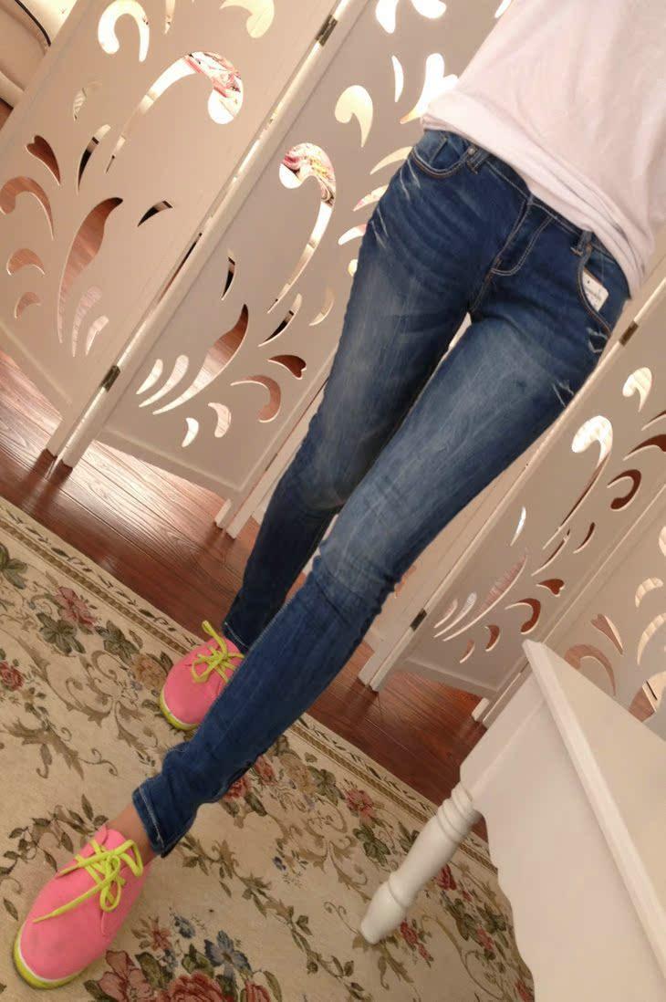 Джинсы женские Европейских и американских ретро мыть супер тонкий сторона молнии карандаш брюки ноги брюки женские джинсы женские