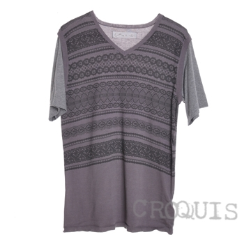Sketch male croquis watermark thread loose short-sleeved sweaters 9718108