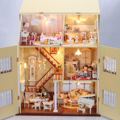 Diy birthday gift ideas Christmas fairy tale cottage years building a large luxury villa toy model room