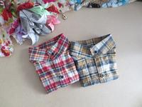 2件包邮 韩国 女格子纯棉衬衫假领子配饰立领衬衫复古衣领