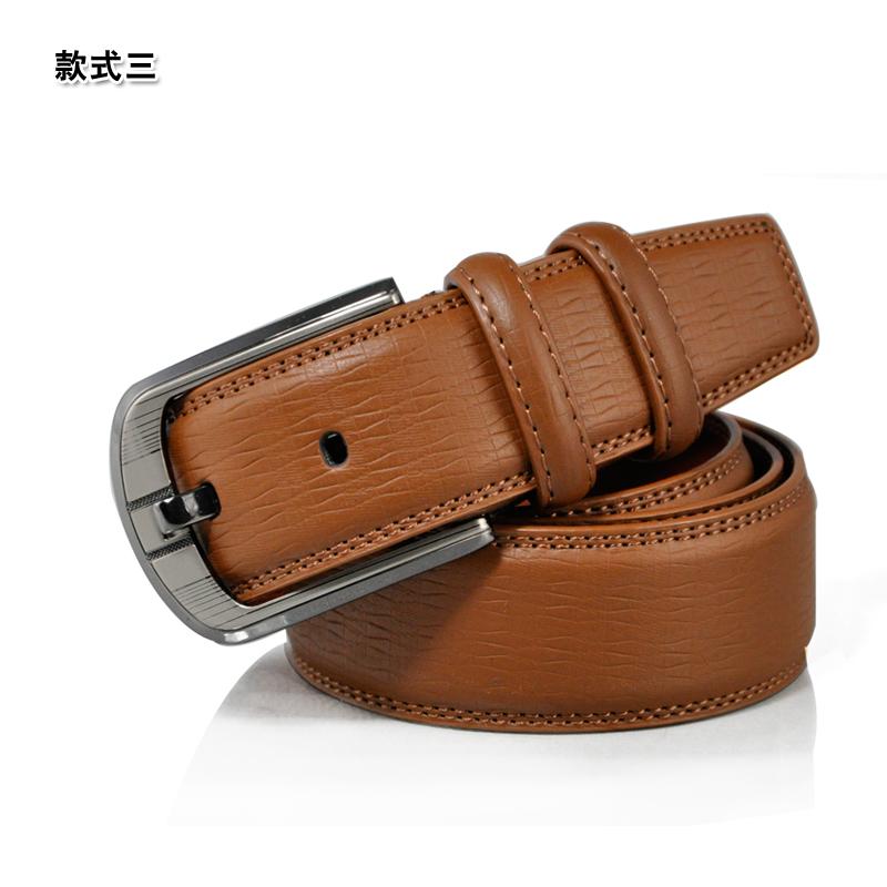 JINGLANG 敬郎 男款针扣式真皮腰带,  25.32元包邮