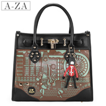 AZA 2012 new style handbag College wind vintage bag smiling Bao Chao laptop shoulder bag 3,121