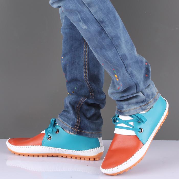 Демисезонные ботинки Choi Chi 187 Мокасины Для отдыха Верхний слой из натуральной кожи Круглый носок Шнурок Лето