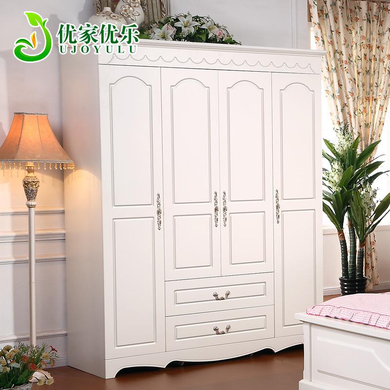 优家优乐家具 田园衣柜 韩式衣柜木质衣柜衣橱特价欧式整体大衣柜