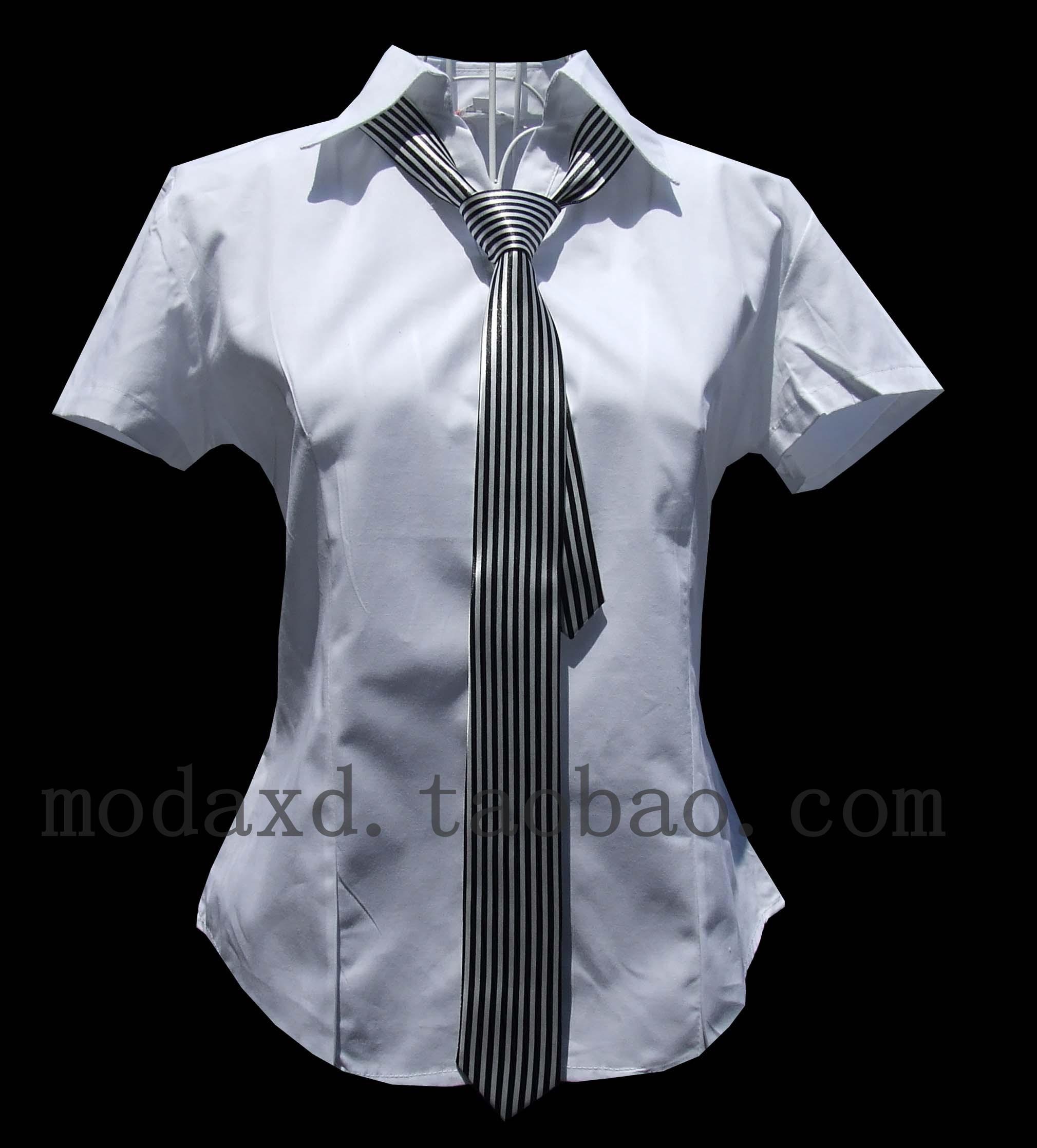 женская рубашка Other 103 Casual Короткий рукав Однотонный цвет V-образный вырез