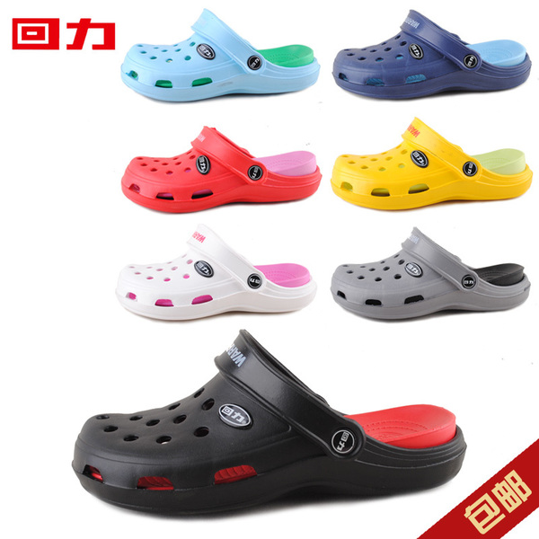 Korean version of the back of the hole summer shoes couple models of men and women sandals slippers sandals sandals men flat heels free shipping