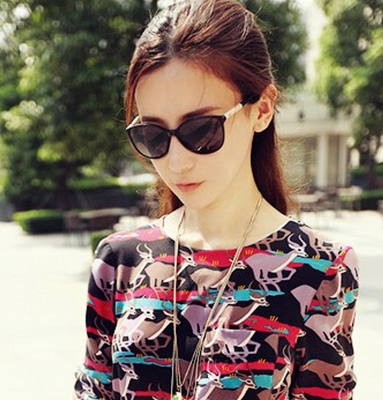 Polarized sunglasses influx of female models who star models 2014 little face framed sunglasses yurt female retro sunglasses myopia