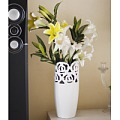 Lmdec. Lmdec Allure Glass Vase Vase Victorian Rose flowers artificial flowers set the overall floral