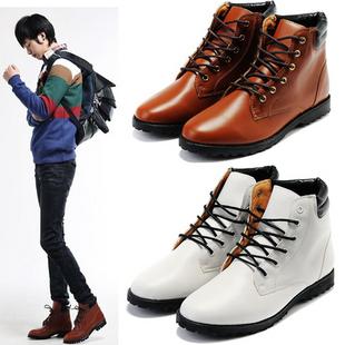 军靴高帮鞋尖头皮鞋韩版潮流短靴马丁靴男靴子英伦时尚靴男士皮靴