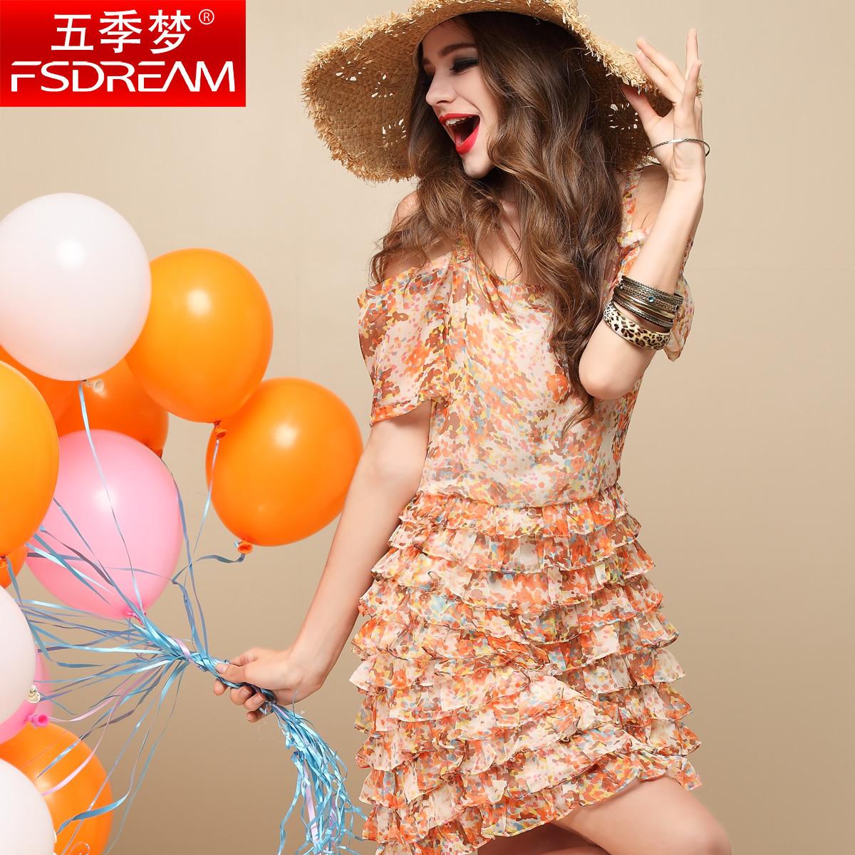 Женское платье Five quarters of dreams q12405 2013 Весна 2013 Шифон