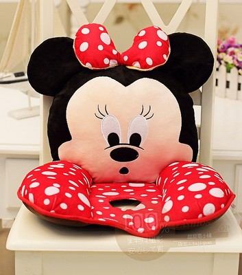 Super Meng Mickey & Minnie cartoon rabbit plush doll Nice office lumbar cushion lumbar pillow cushions