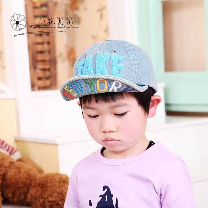 Головной убор Корейская версия мальчиков ковбои взять язычная шляпы детей бейсбол шляпу Cap 52 см 2