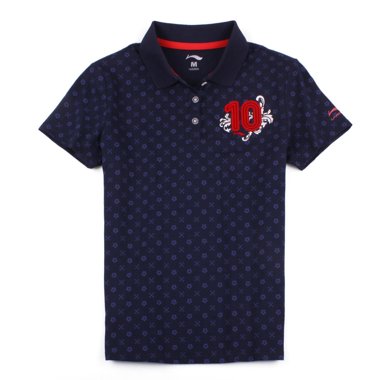 Рубашка поло Li Ning aple076 LINING POLO -1 Женские Стандартный Короткие рукава ( ≧35cm ) Для спорта и отдыха