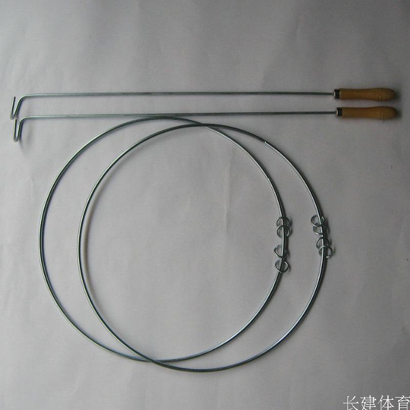 Катание обруча Специальные рулон диаметром 50 см Кинг твердых обручи взрослых грубой железное кольцо с 4 небольшие кольца