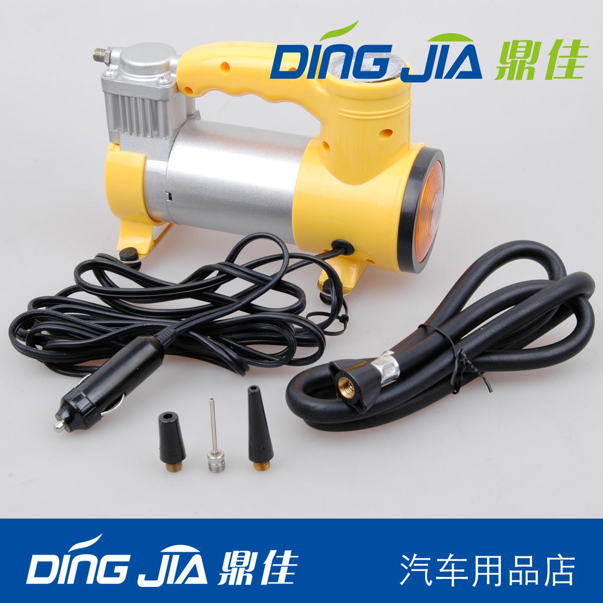 автокомпрессор Дин Цзя 12V водить автомобиль прикуривателя питания автомобилей одноцилиндровый воздушный насос ночь легкие электрические воздушные компрессоры