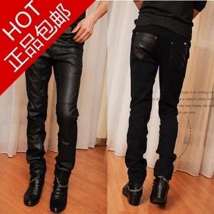 Кожаные брюки LONGXI 2013 Полиуретановый кожезаменитель