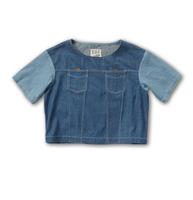 〈李合张〉落肩 麂皮配牛仔Jacket T恤