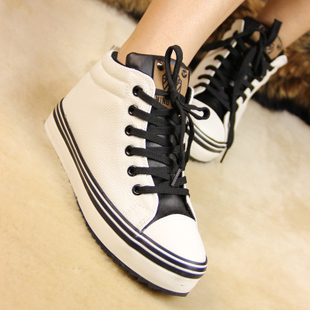 Fall/winter and cotton-padded shoes winter shoes new Korean wave high help shoes canvas shoes women shoes and thick-soled platform shoes and leisure shoes
