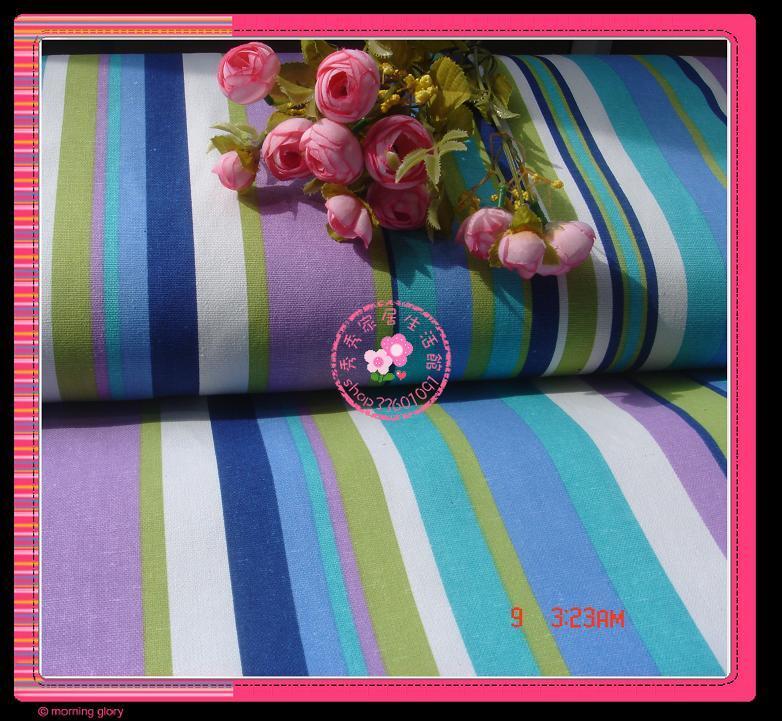 Декоративная ткань Плотный хлопок холст * диван * тканью * занавес ткани * DIY ручной ткань цвет полосы