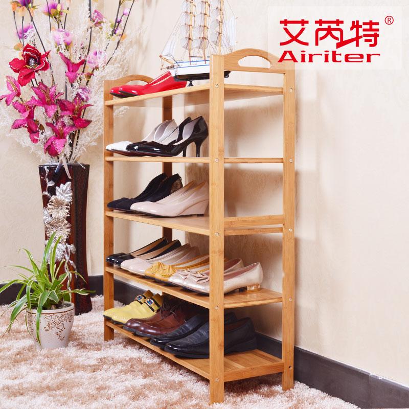 简易鞋架特价小鞋架子竹子鞋架楠竹平板鞋架竹鞋架 鞋架防尘包邮