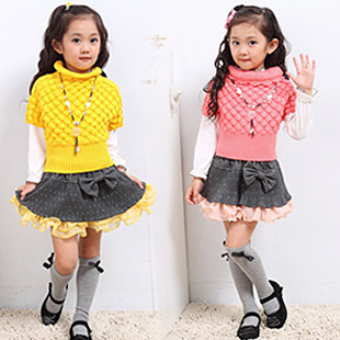 детский костюм 82land zf40035 +T Повседневный стиль Шерсть Весна-осень Девушки