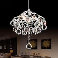 简约现代LED水晶小吊灯过道灯餐厅吊灯卧室灯书房灯欧式玄关吊灯