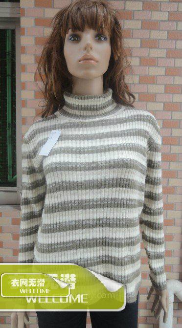 Свитер женский dgyy15 2012 хлопок осень 2012 длинный рукав классический рукав высокий воротник