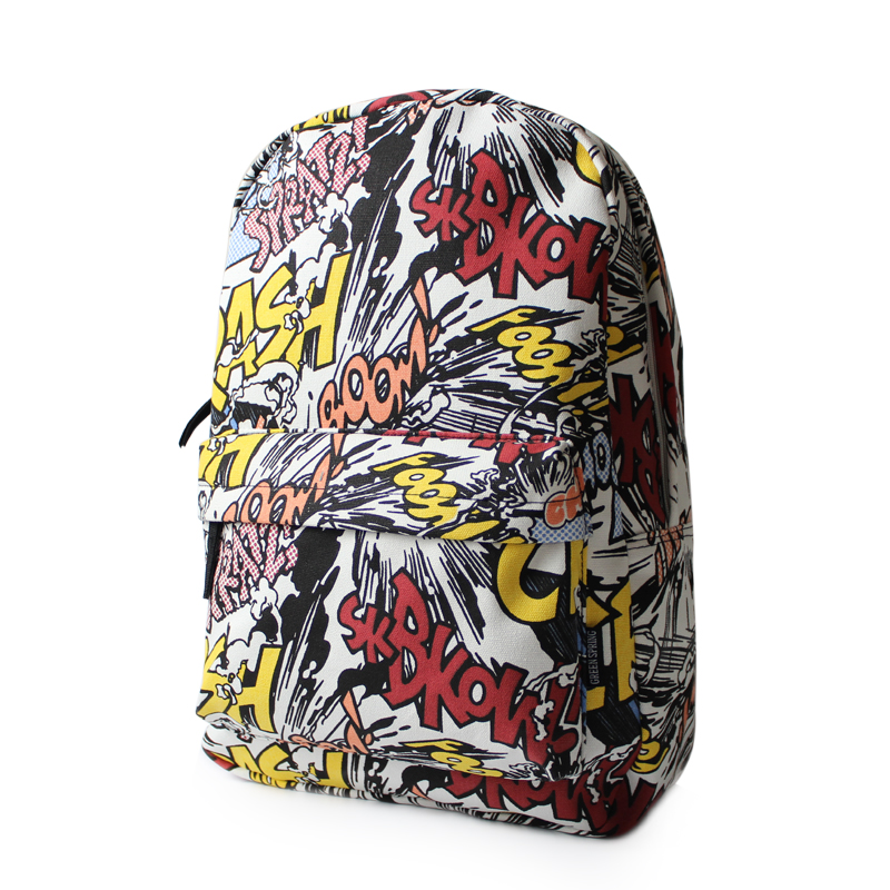 Сумка Корейские приливные Harajuku милый мультфильм школьный рюкзак-граффити на улице мужчин и женщин плеча мешки