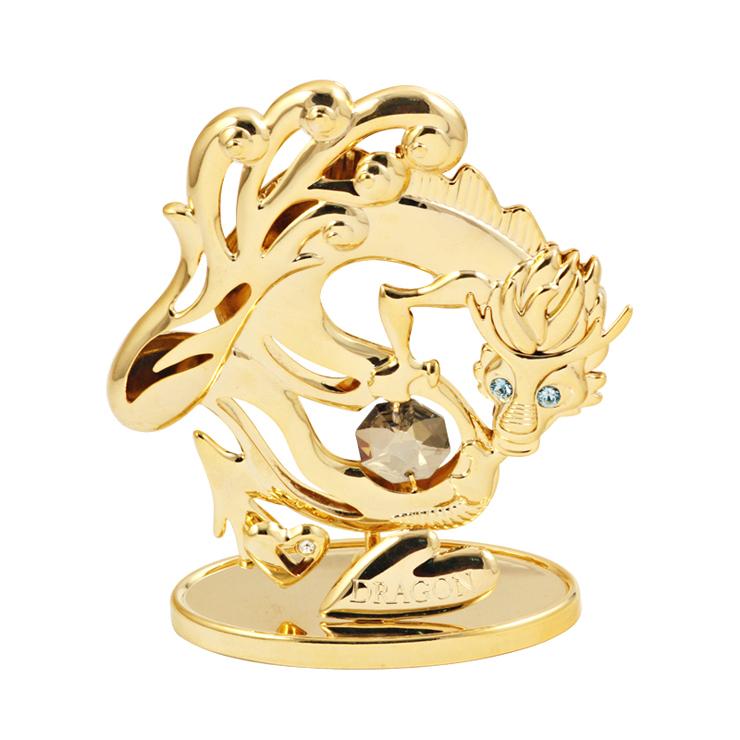 Декоративные украшения Crystocraft 12 зодиака Дракон кристалла украшения украшение творческих автомобиля повезло часы рождественские подарки