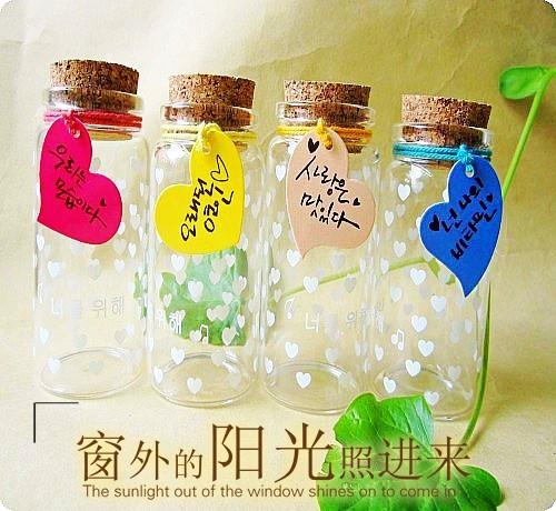 100ML479033新品 定制瓶喜糖瓶 许愿瓶 管制瓶 玻璃瓶 创意礼品