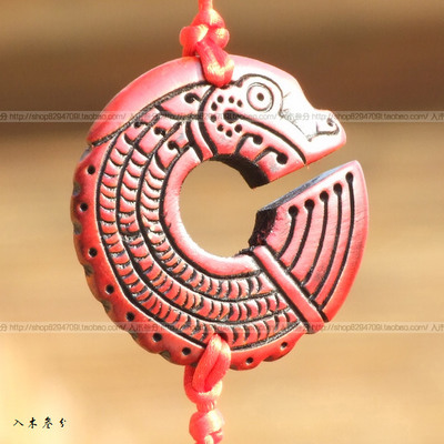 Nine Chiwen mahogany evil dragon pendant / owl tail town of evil handmade wood crafts