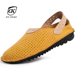 Men s Sandals men leather genuine Europe and beach shoes men Sandals casual Sandals tide leather Sandals men