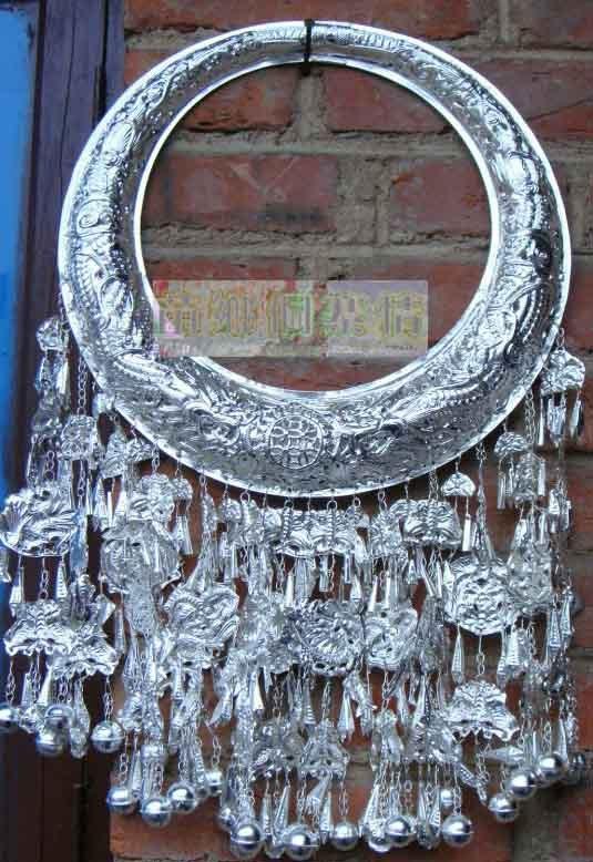 Расписанные изделия Мяо Мяо серебряные ювелирные изделия Гуйчжоу провинции Ши воротник не не - стерлингового серебра 925 стерлингового серебра воротника воротник @