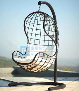 Pastoral European outdoor furniture, wrought iron chairs swing indoor rocking chair garden swing villa swing