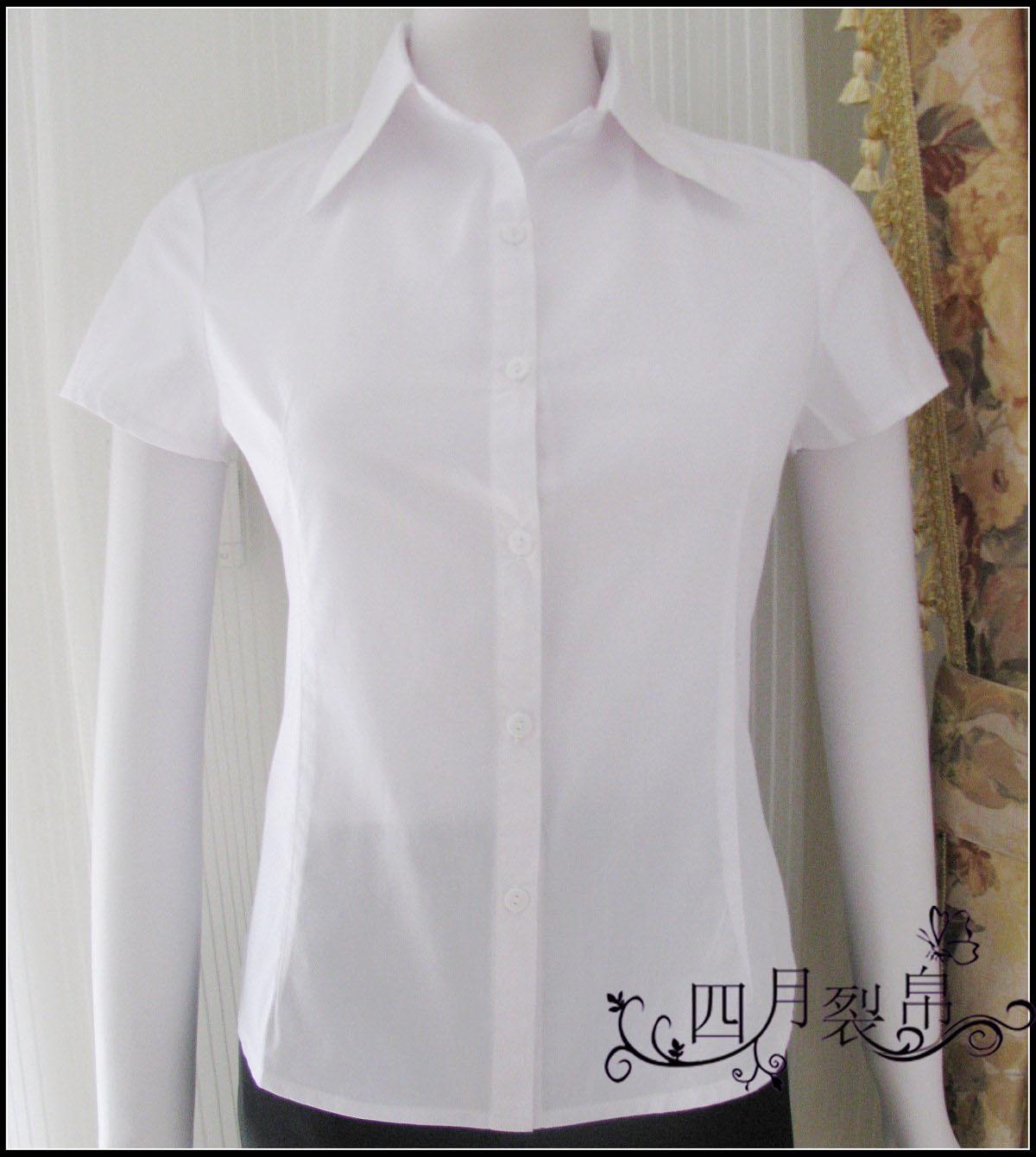 женская рубашка Other OL TC Гламурный стиль Короткий рукав Однотонный цвет