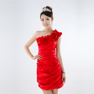 New Angel culvert skinny Delta short little red dress sexy wedding dress bridesmaid clothing LF201