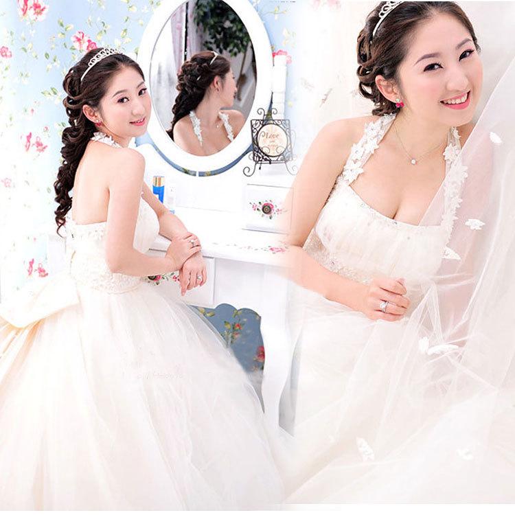Свадебное платье HS/0107 ткань кристалл длинный шлейф