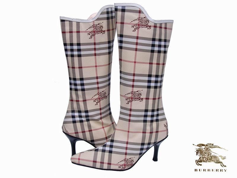 Женские сапоги Новые заостренный стилет сапоги Burberry вдохновил сапоги ботинки сапоги b.ur размер xly5 Средняя высота сапог