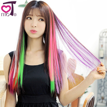 KeMu hair slice of non-mainstream straight hair color wig piece highlights pills Color hair piece Article wig