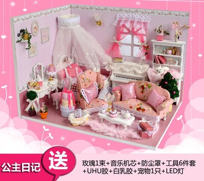 The Princess Diaries handmade diy cabin house model assembled creative birthday gift to send his girlfriend girlfriends Chi Fun House